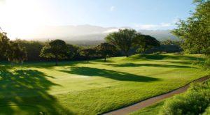 Vue d'un trou de golf